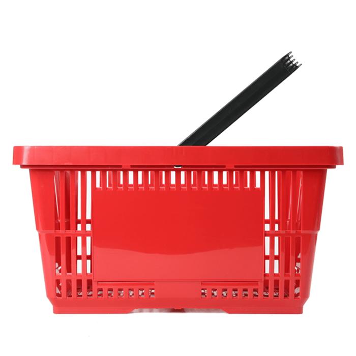 Einkaufskorb Kunststoff rot 1 Griff 28 Liter