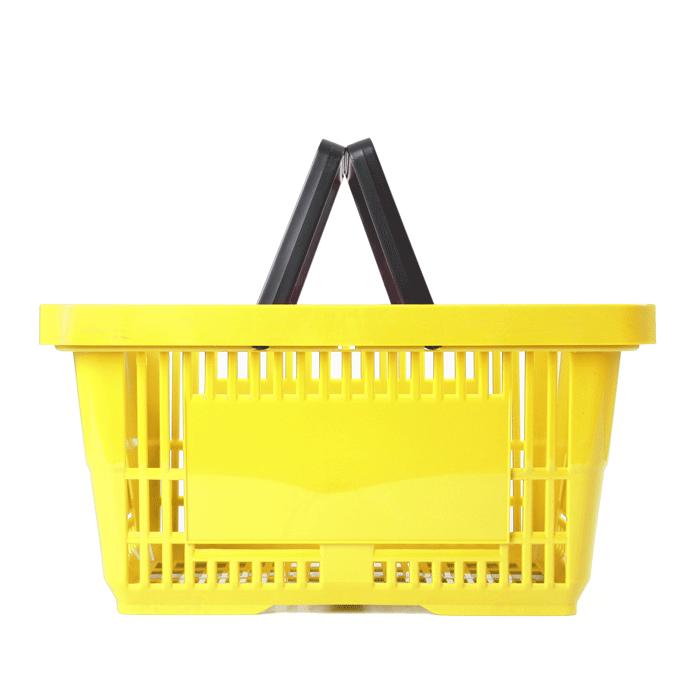 Einkaufskorb Kunststoff 2 Griffe gelb 22 Liter