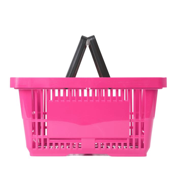 Einkaufskorb Kunststoff Pink 2 Griffe 22 Liter